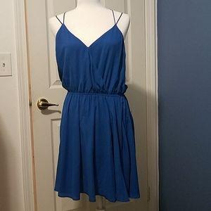 Blue strappy Express dress sz M. Never worn